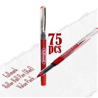 RM100 Value Pack! 75pcs x Fullmark Roller Ball Pens, 0.7mm Fine Point, Red