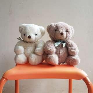 Preloved boneka beruang kembar