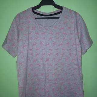 Sale Cotton Top (Zebra Print Gray / Pink)