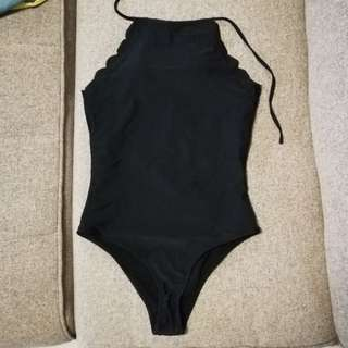 Coral swimsuit in black