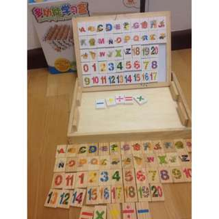 Alphaberts and numbers wooden blocks