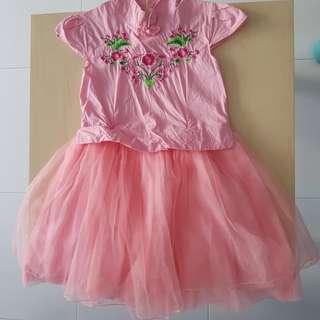 Girls Pink traditional Dress