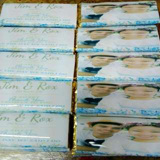 Personalized Choc Bar For Wedding Favors/Giveaways