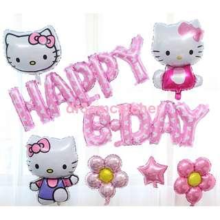clearance and ready stock! Hello Kitty - Happy Bday balloon set