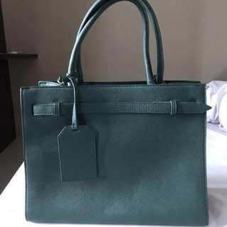 Saffiano Belted Work Tote