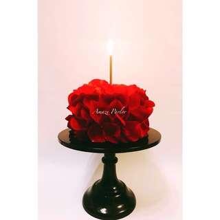 玫瑰花瓣蛋糕  Valentine's Day gift 情人節禮物