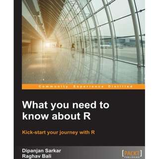 What you need to know about R [eBook]