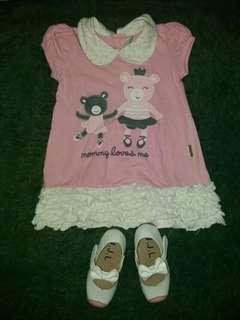 Dress baby umur 12-18 bulan