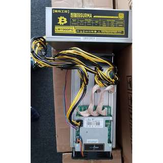 AntMiner S7 Bitcoin Mining ( 4.7 TH ) With PSU -Ready stock
