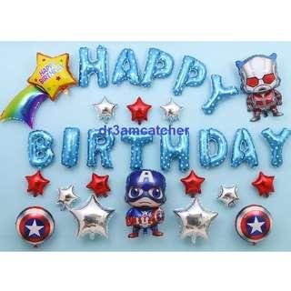 Best seller! Ready stock! Avengers birthday balloon set