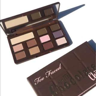 PRICE REDUCED Too Faced Matte Chocolate Chip Palette - BNIB
