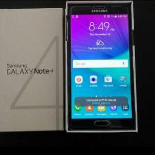 99% black colour Samsung Note 4 n910u 32gb full set with case.