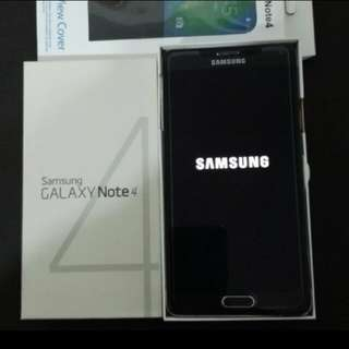 99% black colour Samsung Note 4 duel SIM, full set with case.