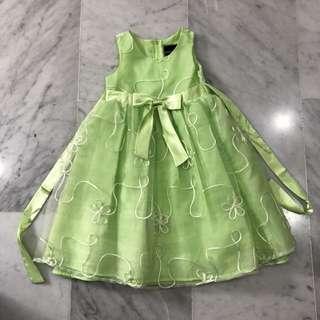 Girls Green Party Dress