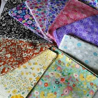 100 pcs Precut cotton for patchwork