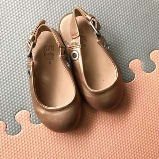 Zara baby leather shoes