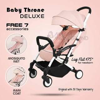 PINK - Baby Throne DELUXE Version Light Weight Stroller