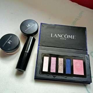 Lancome Lipstick ,Landcome eyeshadow blusher palette,2 I. b baremineral eye shadow