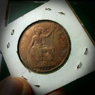 1Penny,George V, UK, 1917 Collectible Coin