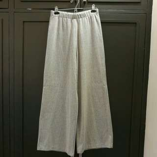 Zara TRF Grey Wide Leg Pants