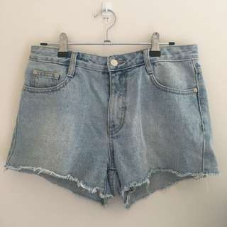 MINKPINK High waisted denim shorts size 10