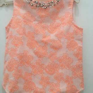 Gingersnaps beaded sleeveless blouse size 12