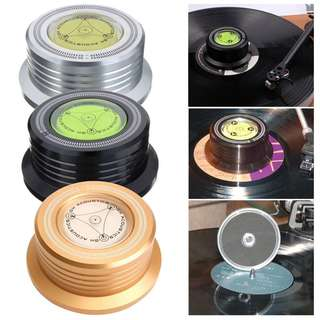 🚚Ready Stock: BNIB SILVER Coloured GH Acoustics 50HZ 3 In 1 Audiophile Record Clamp Puck weight LP vinyl Disc Stabilizer Turntable For Vibration Balanced Stroboscope