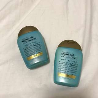 argan oil of morocco shampoo and conidioner travel size