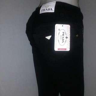 Celana jeans prada hitam