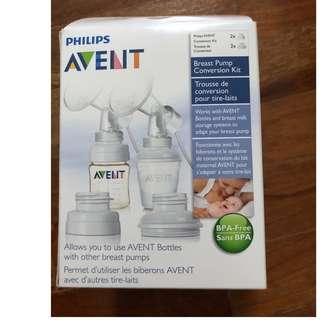 Brand new breast pump conversion kit