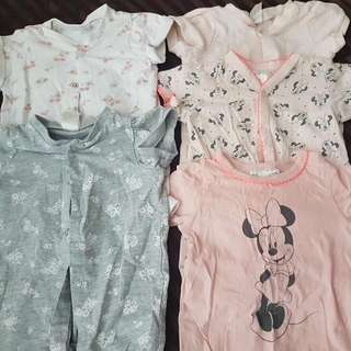 H&M Baby Girl Rompers