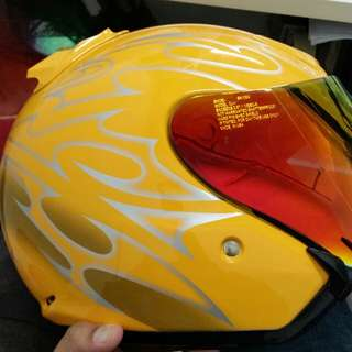 *Limited set* Shoei JF2 Jack yellow (copy ori) *Come with clear visor*