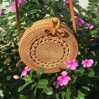 Handcrafted Braided Rattan Bali Bag