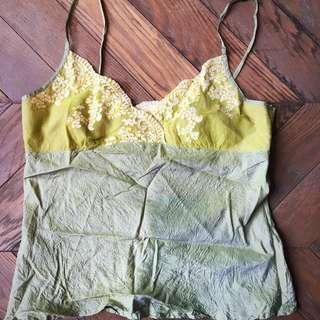 Set of 2 silk camisoles