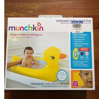 Brand new munchkin inflatable safety duck tub