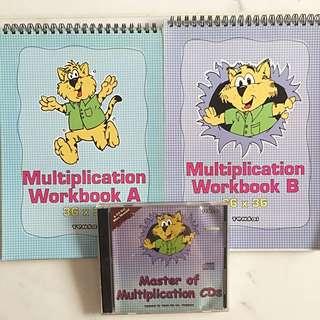 Tensai- multiplication workbook A and B + CD
