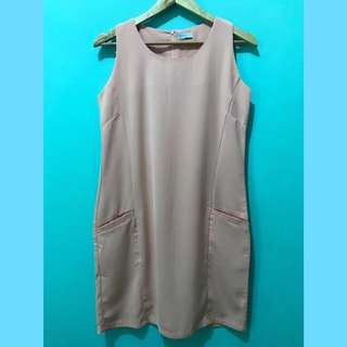 Sleeveless Peach Mini Dress