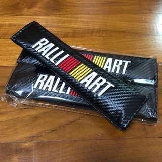 Mitsubishi ralliart seatbelt cover