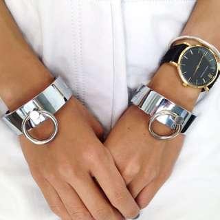 THPSHP Silver Bound Cuff Bracelets