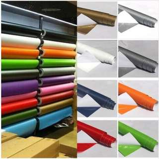 DIY 10x127cm 3D Carbon Fiber Decal Vinyl Film Wrap Roll Adhesive Car Sticker Sheet grey colour