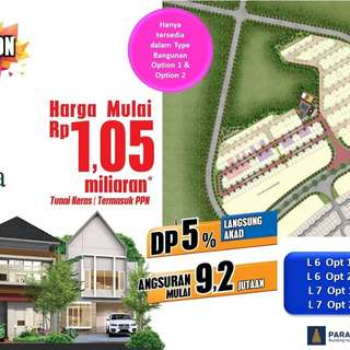 New cluster di serpong dp 5% deket aeon mall bsd city
