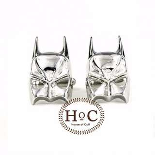 Houseofcuff Cufflinks Cufflinks Manset Kancing Kemeja French Cuff BAT MASK SILVER CUFFLINKS