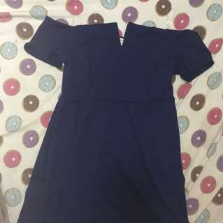 Navy blue sweetheart dress