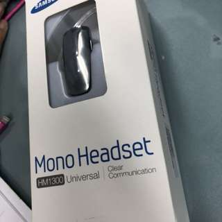 Samsung Mono Bluetooth headset HM1300 全新藍芽耳機 (超平)