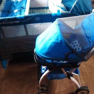REPRICE: SELLING AS PACK: Giant Carrier Playpen & Stroller (unbranded)