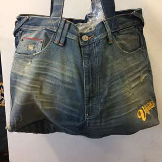 Denim Tote Bag (charms is included)