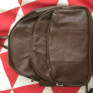 Genuine leather brown minibag