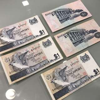 $1 Singapore Notes