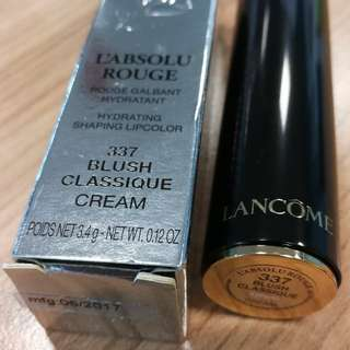 Brand New Lancome L'absolu Rouge Hydrating Shaping Lipstick 337 Blush Classique