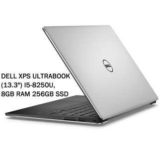 "Dell XPS Ultrabook - 13.3"" - Core i5 8250U - 8GB RAM - 256GB SSD (Silver)"
